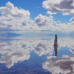 前撮り(ウユニ塩湖)の写真 2枚目