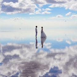 前撮り(ウユニ塩湖)の写真 4枚目