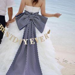 ビーチフォト ドレス(リボントレーン)の写真 1枚目