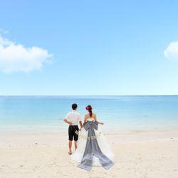 ビーチフォト ドレス(リボントレーン)の写真 3枚目