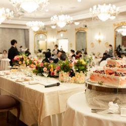 披露宴ウエディングケーキの写真 1枚目