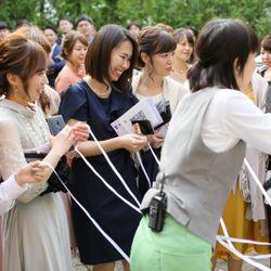 挙式後ガーデンセレモニーの写真 1枚目