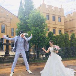 白ドレス前撮りオフショットの写真 3枚目
