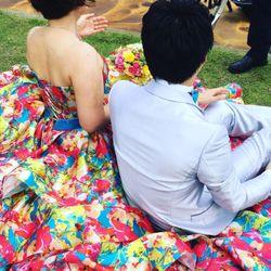 カラードレス前撮りオフショットの写真 4枚目