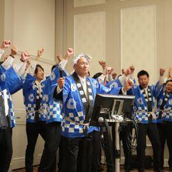 新郎お色直し退場の曲が、新郎ゲストによる北島三郎さんの「まつり」で退場の写真 3枚目