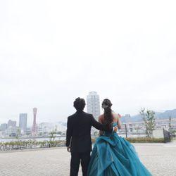 天気が悪くバルーンを式中に飛ばせなかったが、披露宴後、天気大丈夫なので新郎新婦で飛ばしましたの写真 3枚目
