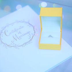 指輪&結婚証明書の写真 1枚目