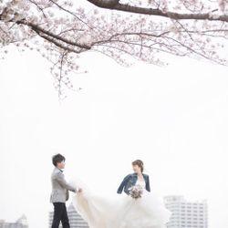 桜ウェディングフォトの写真 2枚目
