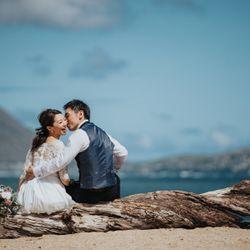洋装前撮り(Waialae Beach)の写真 1枚目