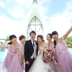 式後、スタッフさん・友達と♡の写真 19枚目