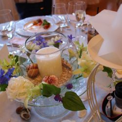 高砂、ゲストテーブル、ブーケの写真 10枚目