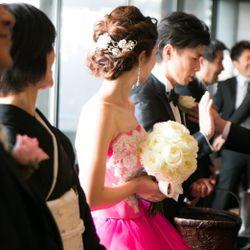 カラードレス ヘアスタイルの写真 2枚目