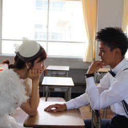 【前撮り】2人の母校(高校)と茨城前撮りの写真 10枚目