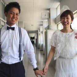 【前撮り】2人の母校(高校)と茨城前撮りの写真 8枚目
