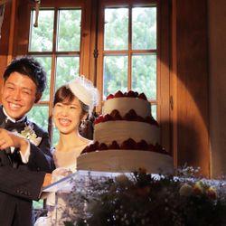 ウエディングケーキ、ケーキ入刀の写真 3枚目