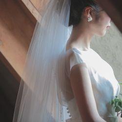 挙式前撮影:ウエディングドレスヘアアクセの写真 9枚目