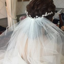 ドレス、ヘアメイク(挙式)の写真 4枚目