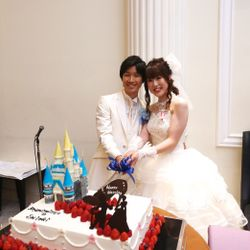 ケーキ入刀,ファーストバイトの写真 12枚目