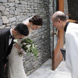 軽井沢石の教会【挙式後】の写真 13枚目