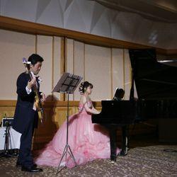 新郎新婦ピアノ×ベース演奏の写真 1枚目