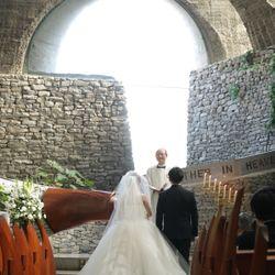 石の教会 挙式の写真 5枚目