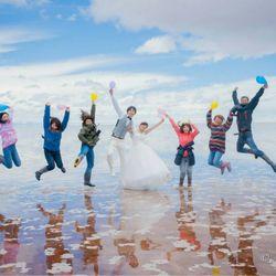 前撮りatウユニ塩湖の写真 1枚目