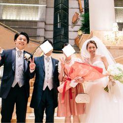 挙式後のサプライズプロポーズの写真 1枚目