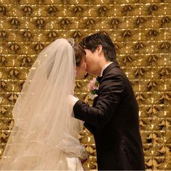 指輪交換、誓いのキスの写真 2枚目