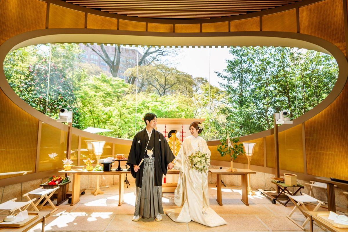 椿山荘の神前式