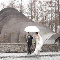 軽井沢石の教会【挙式後】の写真 1枚目