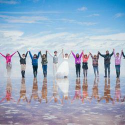 前撮りatウユニ塩湖の写真 3枚目