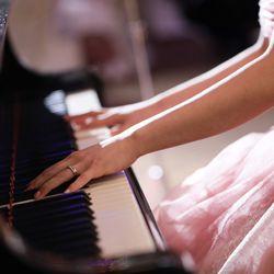 新郎新婦ピアノ×ベース演奏の写真 3枚目