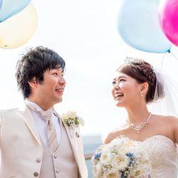 結婚式♡挙式〜バルーンリリースの写真 2枚目