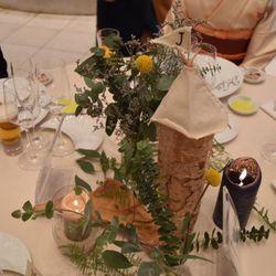 ゲストテーブル装飾の写真 5枚目
