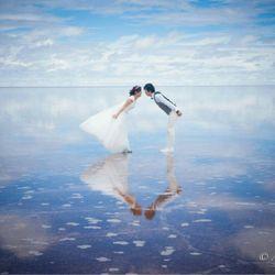 前撮りatウユニ塩湖の写真 2枚目