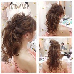 カラードレス&二次会hairの写真 2枚目