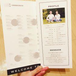 オリジナルデザインの招待状と席次表の写真 1枚目