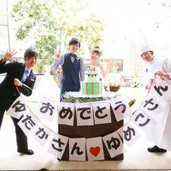 ケーキ入刀から披露宴終了までの写真 2枚目