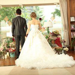 前撮り ウエディングドレスの写真 1枚目