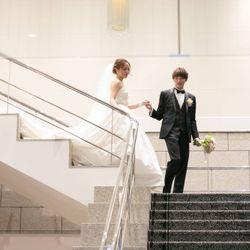 階段入場〜ブーケトスの写真 4枚目