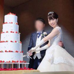 ウェディングケーキ、ケーキカットの写真 1枚目
