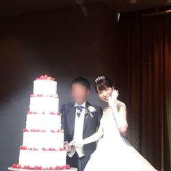 ウェディングケーキ、ケーキカットの写真 2枚目