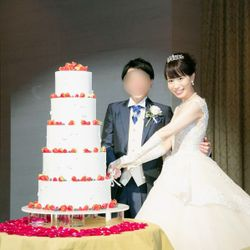 ウェディングケーキ、ケーキカットの写真 3枚目
