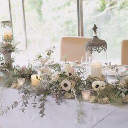 披露宴・テーブル装花の写真 2枚目