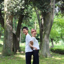 【前撮り】2人の母校(高校)と茨城前撮りの写真 4枚目
