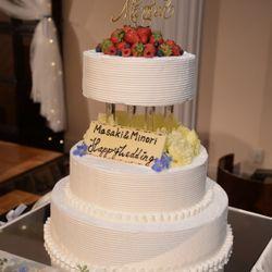 ❁装花 高砂 ケーキの写真 3枚目