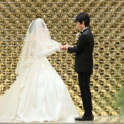 指輪交換、誓いのキスの写真 1枚目