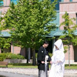 0923主人の母校での前撮りの写真 4枚目