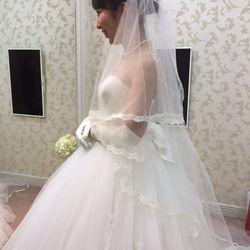ウエディングドレス小物合わせの写真 2枚目