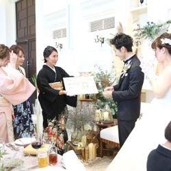 披露宴(新郎兄妹からサプライズ・中座・再入場〜お見送り)の写真 3枚目